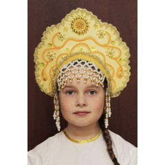 Русский народный костюм КОКОШНИКИ Кокошник Лариса ЛАР-03-09-01, 12,5 см