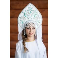 Русский народный костюм КОКОШНИКИ Кокошник Надежда НАД-00-13-00, 24 см
