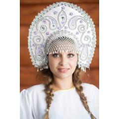 Русский народный костюм КОКОШНИКИ Кокошник Татьяна ТАТ-02-25-00, 16 см
