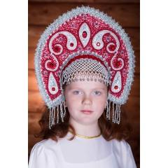 Русский народный костюм КОКОШНИКИ Кокошник Ульяна УЛЯ-02-01-00, 16 см