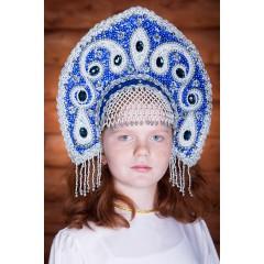 Русский народный костюм КОКОШНИКИ Кокошник Ульяна УЛЯ-02-02-00, 16 см