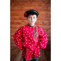 Русский народный костюм КОСОВОРОТКИ Косоворотка Кузя КУЗ-00-01-00, рост 146-152