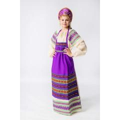 Русский народный костюм ФАРТУКИ фиолетовый , 95 см