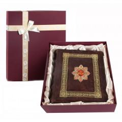 Подарок с гравировкой Фотоальбомы 0110601009/1, Фотоальбом кожаный с тиснением С Юбилеем 65 лет!  в коробке
