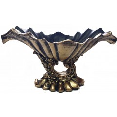 Подарок с гравировкой Садовые фигуры и кашпо Вазы из полистоуна 009-2, Ваза Греческая бронза Н-23 см, L-45 см
