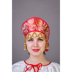 Русский народный костюм КОКОШНИКИ Кокошник  Яна Яна-00-01-00, 10 см