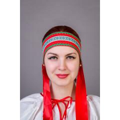 Русский народный костюм КОКОШНИКИ Повязка  Наталья ПНА-00-01-00, 6  см