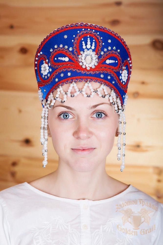 Русский народный костюм КОКОШНИКИ Кокошник Виктория ВИК-00-02-00, 11 см