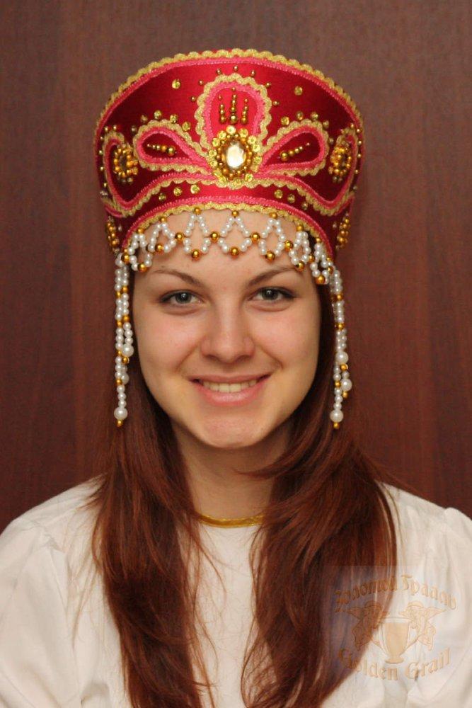 Русский народный костюм КОКОШНИКИ Кокошник Виктория ВИК-00-10-00, 11 см