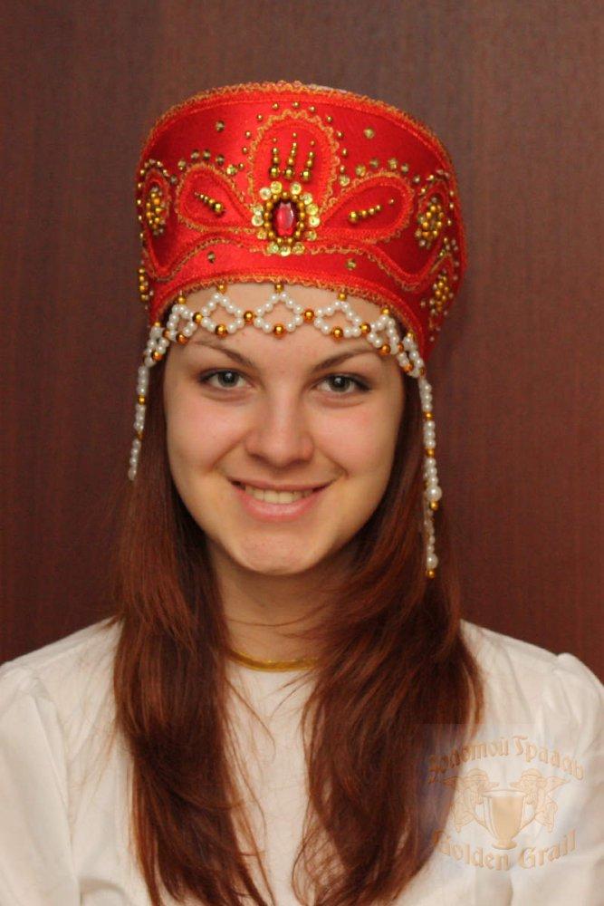Русский народный костюм КОКОШНИКИ Кокошник Виктория ВИК-00-01-00, 11 см