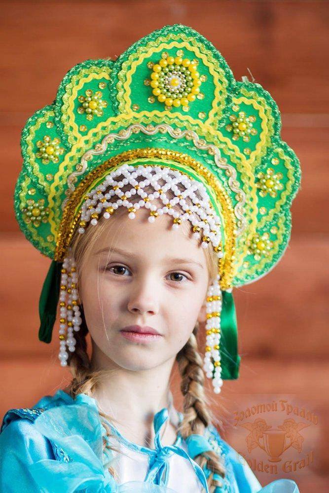 Русский народный костюм КОКОШНИКИ Кокошник Елена ЕЛЕ-00-08-00, 12,5 см