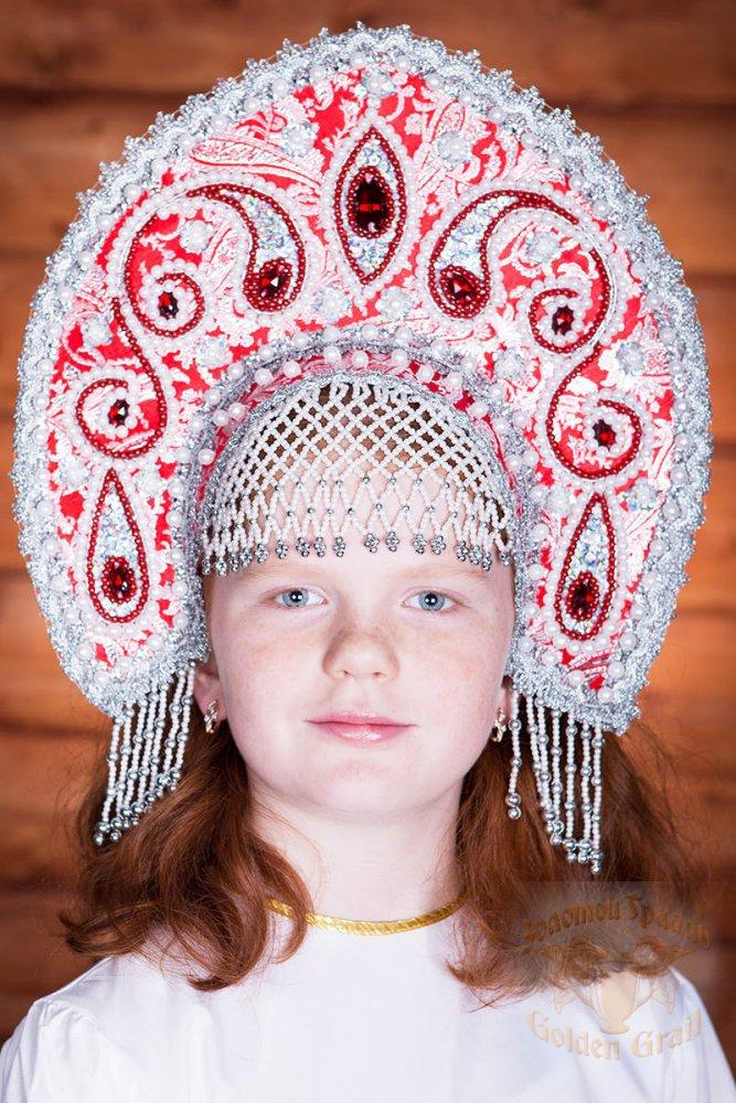 Русский народный костюм КОКОШНИКИ Кокошник Татьяна ТАТ-02-22-00, 16 см