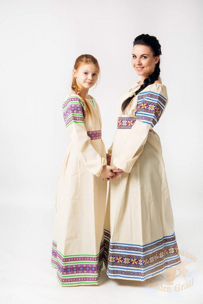 Русский народный костюм РУБАХИ ЖЕНСКИЕ ВАС-00-00-00, р. 44-46