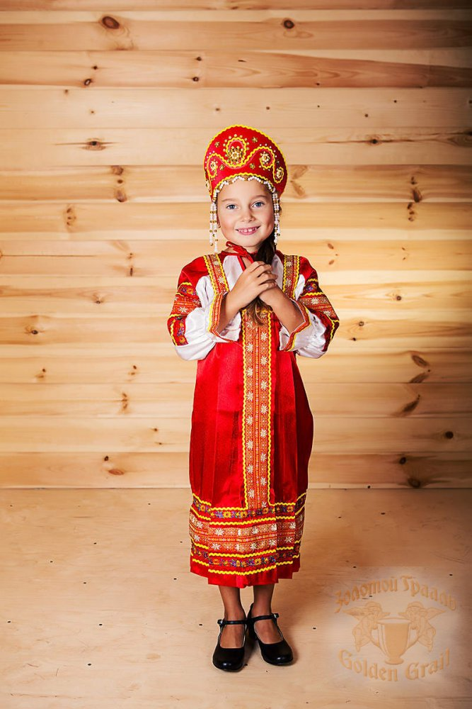 Русский народный костюм САРАФАНЫ Сарафан Алёнушка АЛН-00-01-00, р. 56-58