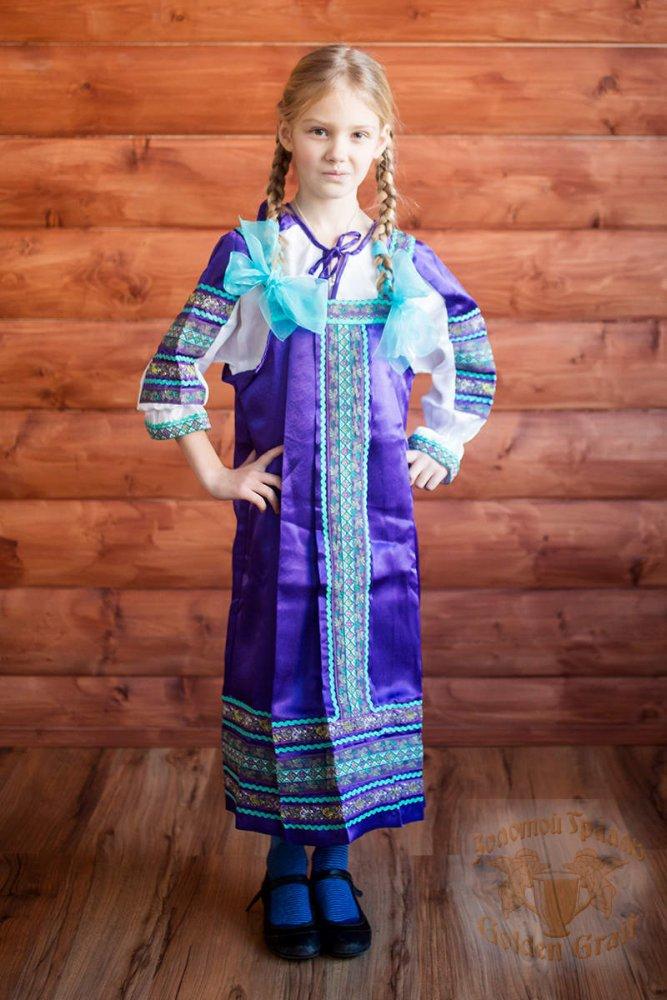 Русский народный костюм САРАФАНЫ Сарафан Алёнушка АЛН-00-07-00, рост 146-152